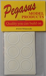 Whitewalls Thin Vinyl Transfers (2 Sheets - Set of 12) (1/24-1/25)