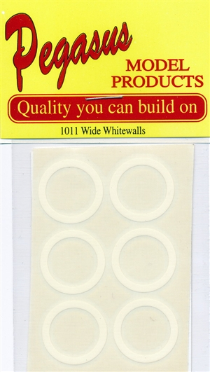 Whitewalls Wide Vinyl Transfers (2 Sheets - Set of 12) (1/24-1/25)