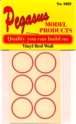"Thin Red Wall ""Red Line"" Dry Vinyl Transfers (2 Sheets - Set of 12) (1/24-1/25)<br><span style=""color: rgb(255, 0, 0);"">Back In Stock</span>"
