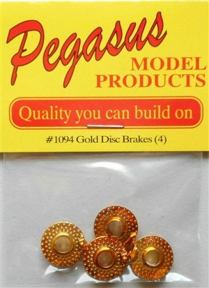 "Disc Brakes with Calipers 19"" (Gold Plated) (Set of 4) (1/25)"