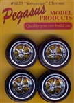 "Sovereign ""Astro"" 5-Spoke Wheels with Whitewall Tires (Set of 4) (1/25)"