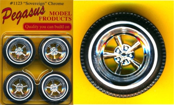 Sovereign Astro 5 Spoke Wheels With Whitewall Tires Set Of 4