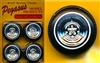 Reverse Chrome Wheels with Whitewall Tires (Set of 4) (1/25)
