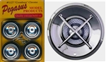 Crossbars Chrome Rims with Whitewall Tires (Set of 4 with Separate Crossbar Inserts) (1/25)