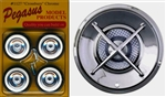 Crossbars Chrome Rims with Wide Whitewall Tires (Set of 4 with Separate Crossbar Inserts) (1/25)