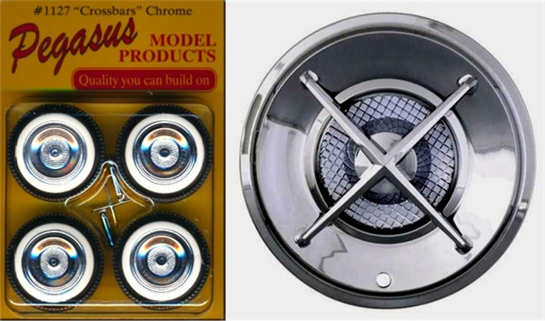 Crossbars Chrome Rims With Wide Whitewall Tires Set Of 4 With