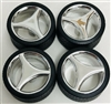 3-Spoked Chrome Rims with Tires (Set of 4) (1/25)