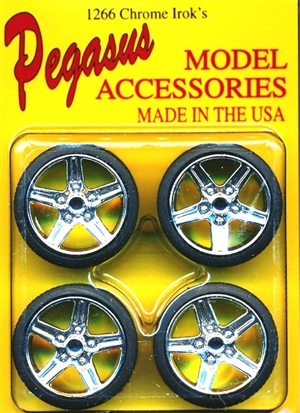 "IROC Wheels with Tires 19"" (Set of 4) (1/25)"