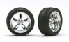 "Chrome T's (Torq Thrust) Wheels with Tires 18"" (Set of 4) (1/25)"
