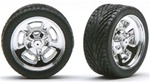 "Hela's (Halibrands) with Tires and Knock-Offs 19"" (Set of 4) (1/25)"