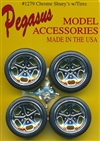 "Shuey's 19"" Chrome Rims with Tires (Set of 4) (1/25)"