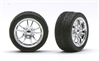 M5's Chrome Rims with Tires (Set of 4) (1/25)