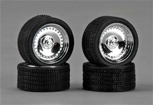"19"" CL's Chrome Rims with Tires (Set of 4) (1/25)"