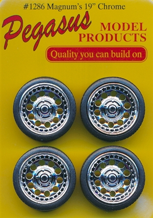 "Magnum's 19"" Chrome Rims with Tires (Set of 4) (1/25)"