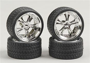 "Phat Daddy's Wheels with Tires 23"" (Set of 4) (1/25)"
