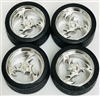 "Lighting Wheels with Tires 23"" (Set of 4) (1/25)"