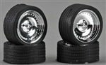 "23"" CL's Chrome Rims with Tires (Set of 4) (1/25)"