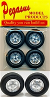 Radir Style Slotted Wheels with Standard Tires (Set of 4) (1/25)