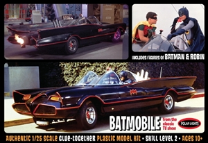 1966 Batmobile with Batman and Robin Figures (1/25) (fs)