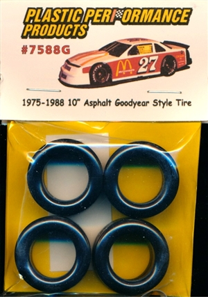 1975-1988 10'' Asphalt Goodyear Style Tire (set of 4)