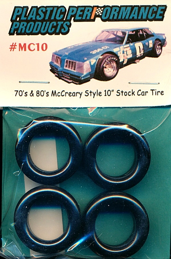 70 S 80 S Mccreary Style 10 Stock Car Tires With Decals Set Of 4