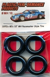 "1970's and 80's 10"" MH Racemaster Style Asphalt Tires (set of 4)"