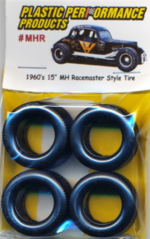 "1960's and 70's 15"" MH Racemaster Asphalt Modified Tires (set of 4)"
