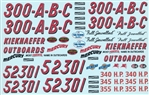 1955/56 Chrysler 300 Stock Car Sheet #1 (1/25)