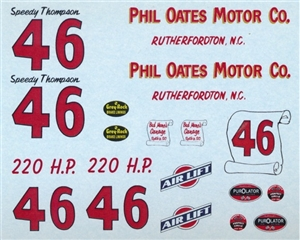 1957 Chevy Speedy Thompson #46 Phil Oates Motor Co (1/25).