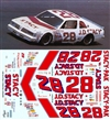 1982  #28 JD Stacy Pontiac Lemans Benny Parsons Decal (1/25)