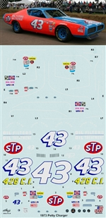 "1972-73 #43 Richard Petty ""STP"" Charger Decals (1/25)"