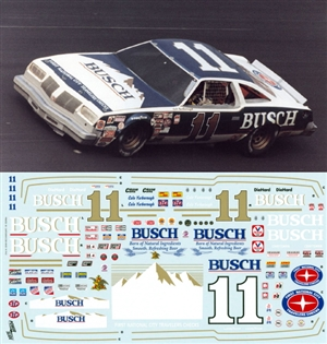 Cale Yarborough Busch 1979-1980 #11 (Works on Salvino Gray Ghost Olds) (1/25)