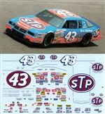"1986/87 #43 Richard Petty ""STP"" Pontiac 2 + 2  Decals (1/24)"
