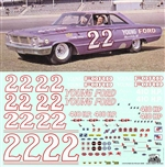 #22 Fireball Roberts 1964 Galaxie Decal (1/25)