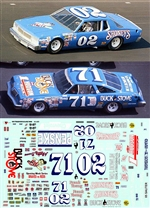 #71/02 Shoney's Dave Marcis 1980 Oldsmobile Decal (1/25)