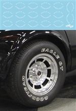 Goodyear Eagle GT 1970's Street Car Tire Decals (1:25-1:24)