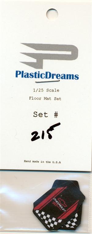 PLASTIC DREAMS 1//25 CHEVY RACING CAR MAT SET215