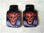 Flaming Skull Car Mat Set (1/25)