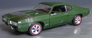 1969 PONTIAC GTO STREET HEAT ISSUE - GREEN METALLIC (1/18) Rare Diecast  (fs)