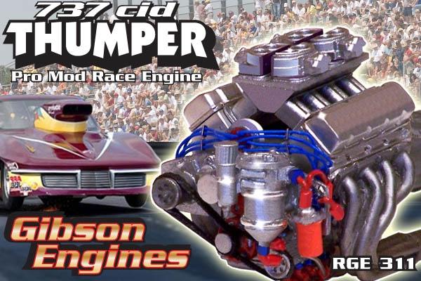 Thumper 737 Cid Chevy Pro Mod Drag Engine 1 25 Fs