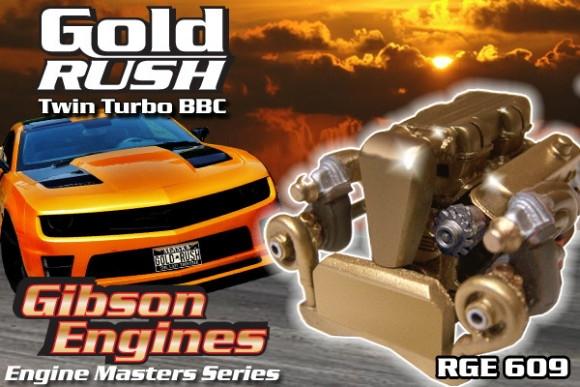 Gold Rush Twin Turbo Big Block Chevy Engine (Master Series) (1/25) (fs)