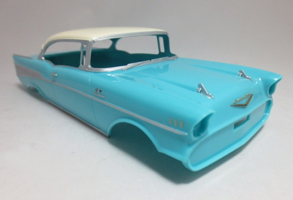 Aftermarket Performance Car Parts >> 1957 Chevy Bel Air Pro Finish Pre-painted Turquoise (1/24 ...