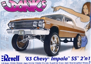 1963 Chevy Impala SS (2 'n 1) Donk or Stock (1/25) (fs)