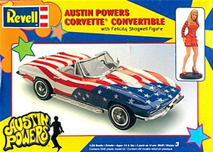 1967 Corvette Convertible 'Austin Powers' with Felicity Shagwell figure (1/25) (fs)