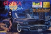 1958 Ford Thunderbird 'Elvira Macabre Mobile' with Fully Painted Figure (1/24) (fs)