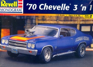 1970 Chevy Chevelle 'Heavy Chevy' ( 3 'n 1) Stock, Street or Drag (1/24) (fs)
