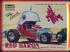 Red Baron Show Car by Tom Daniel with Fokker Airplane in Collector Tin (Limited Edition) (1/24) (fs)