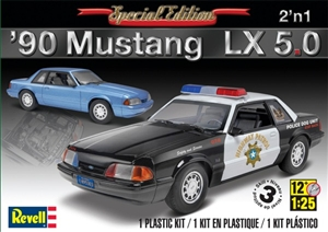 1990 Ford Mustang LX 5.0 (2 'n 1) Stock or Police (1/25) (fs)