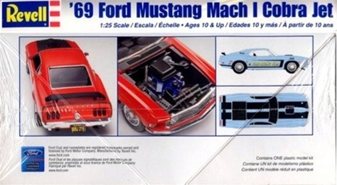 Mustang Cobra Jet >> 1969 Ford Mustang Mach I Cobra Jet (1/25) (fs)