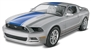 2014 Mustang GT Pre-Decorated (Silver w/ Blue) (1/25) (fs)
